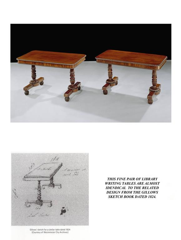 Regency 19th Century Mahogany Gillows Writing Tables For Sale