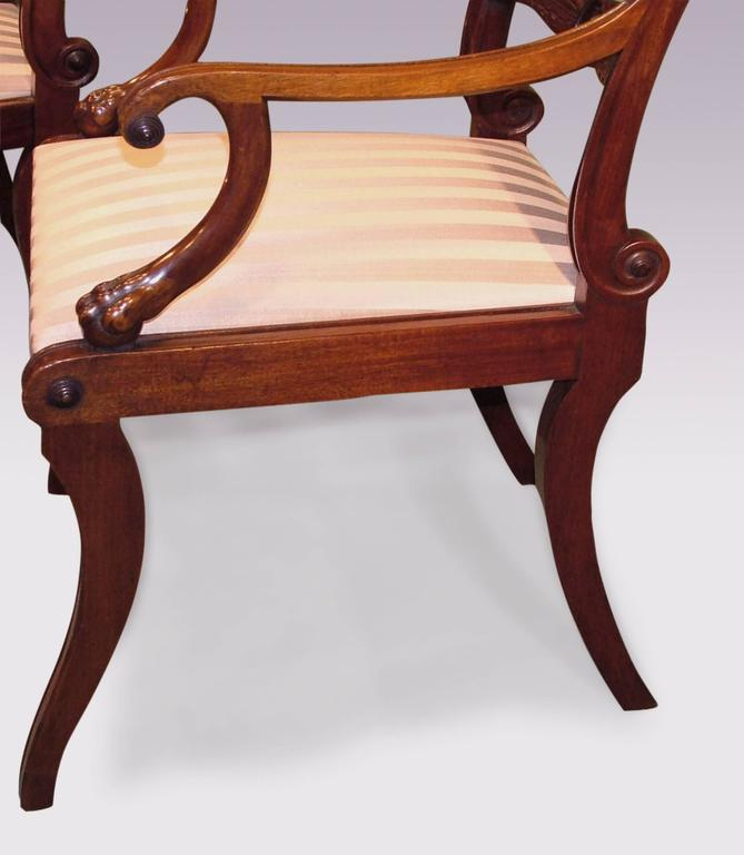 19th Century Regency Mahogany Armchairs In Excellent Condition For Sale In London, GB