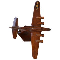 Vintage Desk Airplane Model of B-17 Flying Fortress