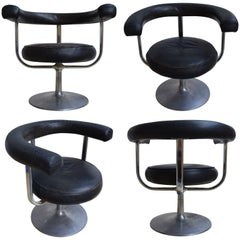 Set of Four Swedish Mid-Century Modern Armchairs