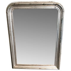 Early 19th Century Silver Guilded Mantel Mirror