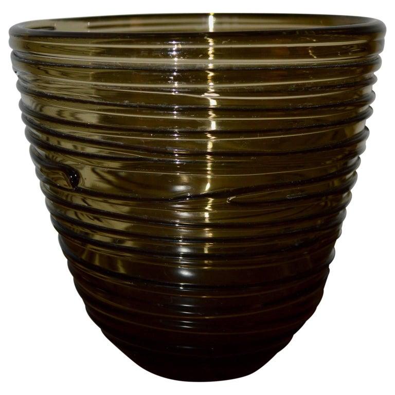 Italian Mid-Century Modern Glass Vase In Good Condition For Sale In Copenhagen, K