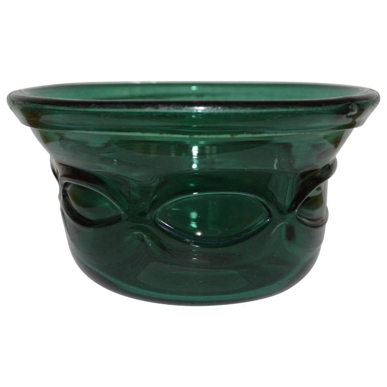 Beautiful Arts and crafts handblown glass bowl.