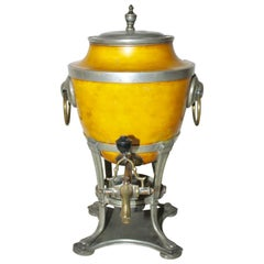 19th Century Pewter and Brass Samovar