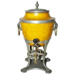 19th Century Pewter and Brass Samovar