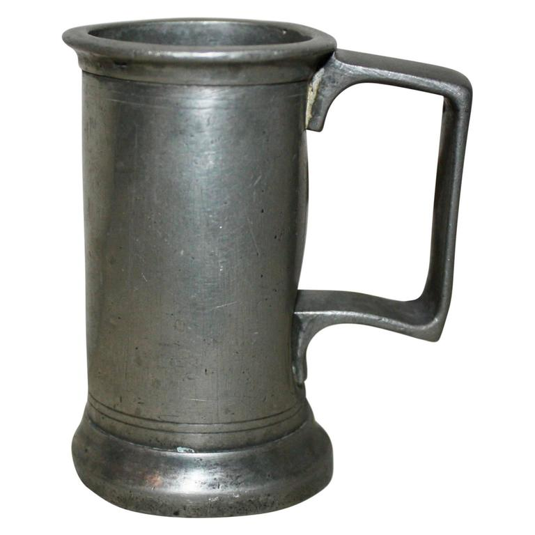 A capacity mark such as 'pint' or 'quart' is self explanatory. Such marks became a legal requirement in 1836 in England. The presence of such a mark does not mean the item is post-1836 as vessels made before then which remained in use after 1836