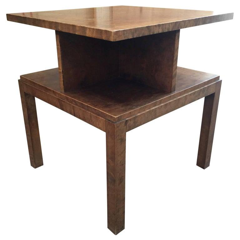 square art deco table for sale at 1stdibs. Black Bedroom Furniture Sets. Home Design Ideas