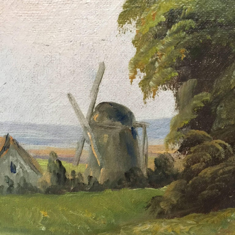 19th Century Painting Of A Danish Farm-House For Sale At
