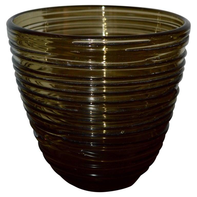 Italian Mid-Century Modern Glass Vase For Sale 1