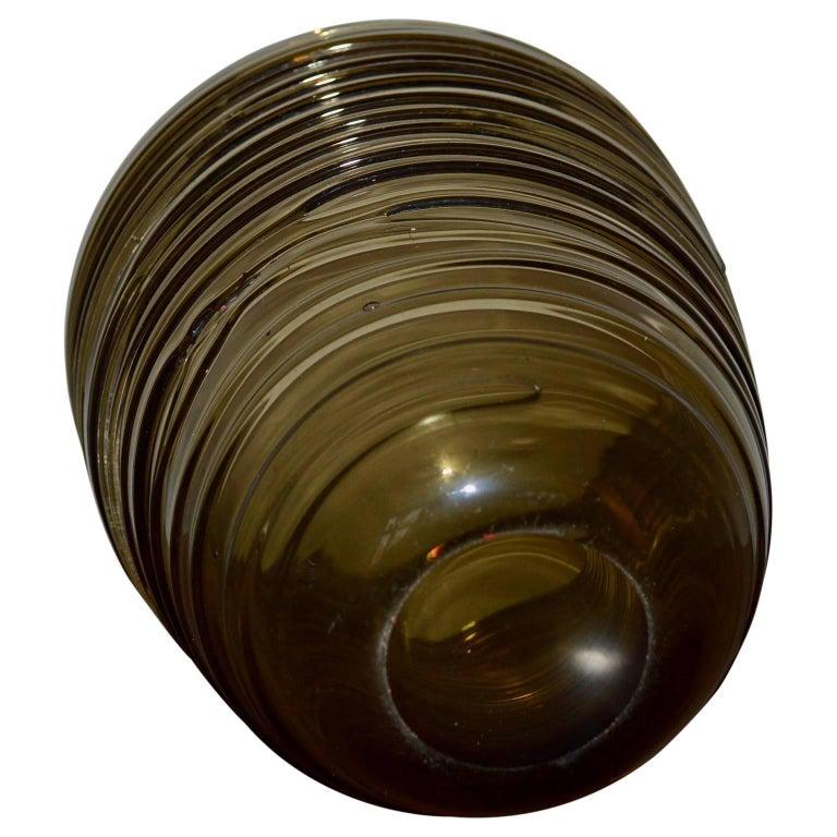 Art Glass Italian Mid-Century Modern Glass Vase For Sale