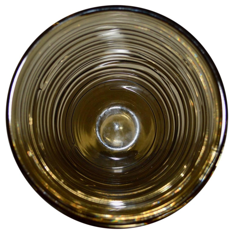 Early 20th Century Italian Mid-Century Modern Glass Vase For Sale