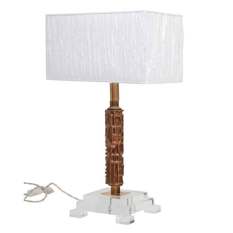 Designer Table Lamp by Frigerio Luciano Italy 1970s at