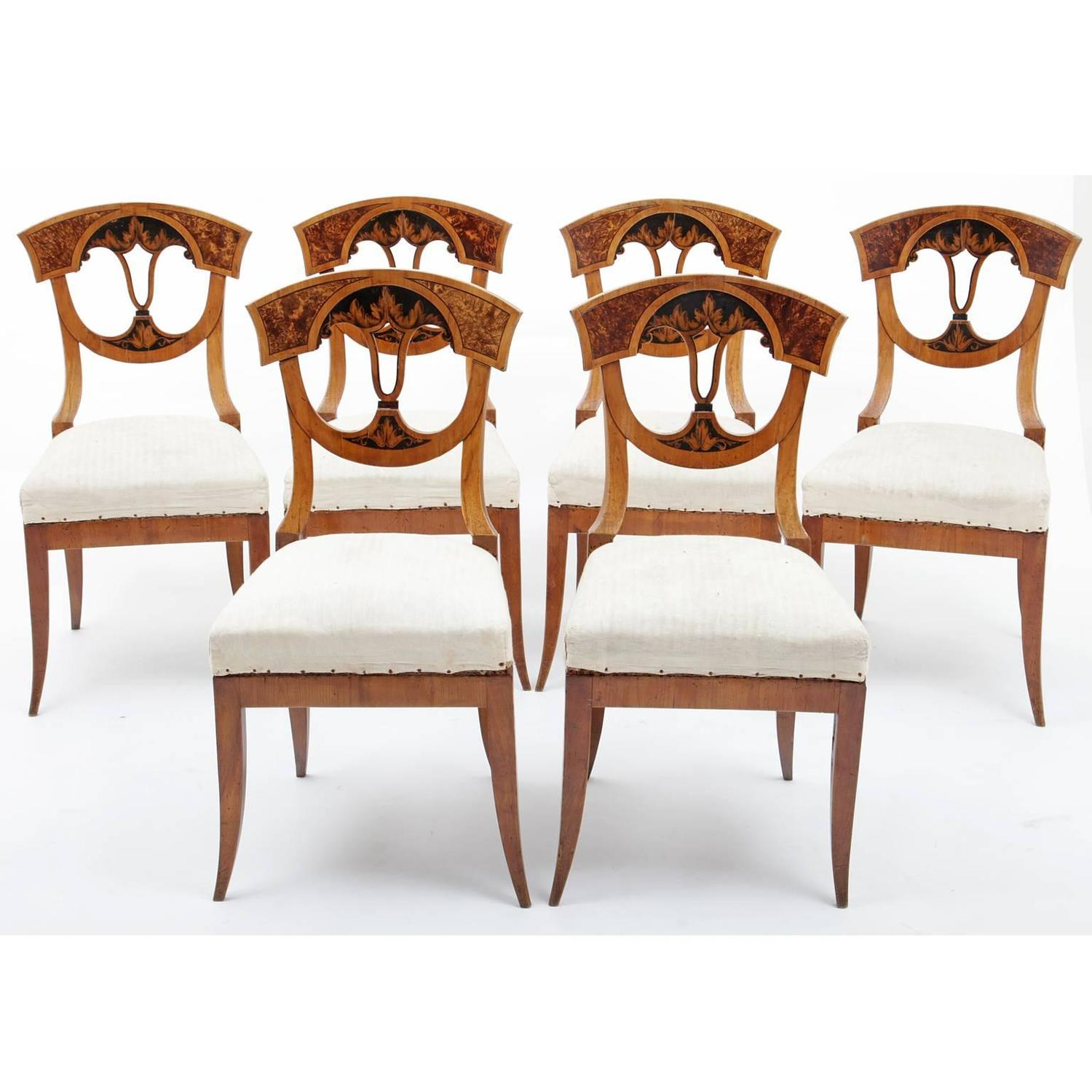 Neoclassical dining chairs german franconia 1820 for for Dining room in german