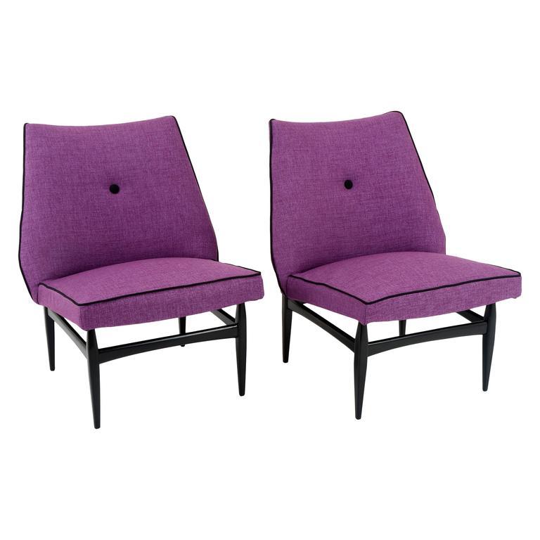 Mid-Century Slipper Chairs, Italy