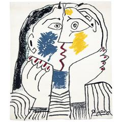 "Picasso Tapestry ""The Kiss / Le Baiser,"" circa 1980"