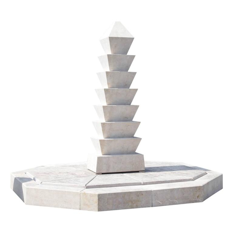 Modern Marble Fountain, 21th Century For Sale