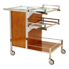 Art Deco Bar Cart by Jacques Adnet, France, circa 1935
