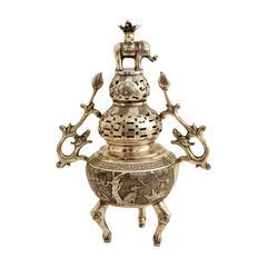 Asian Silver Censer