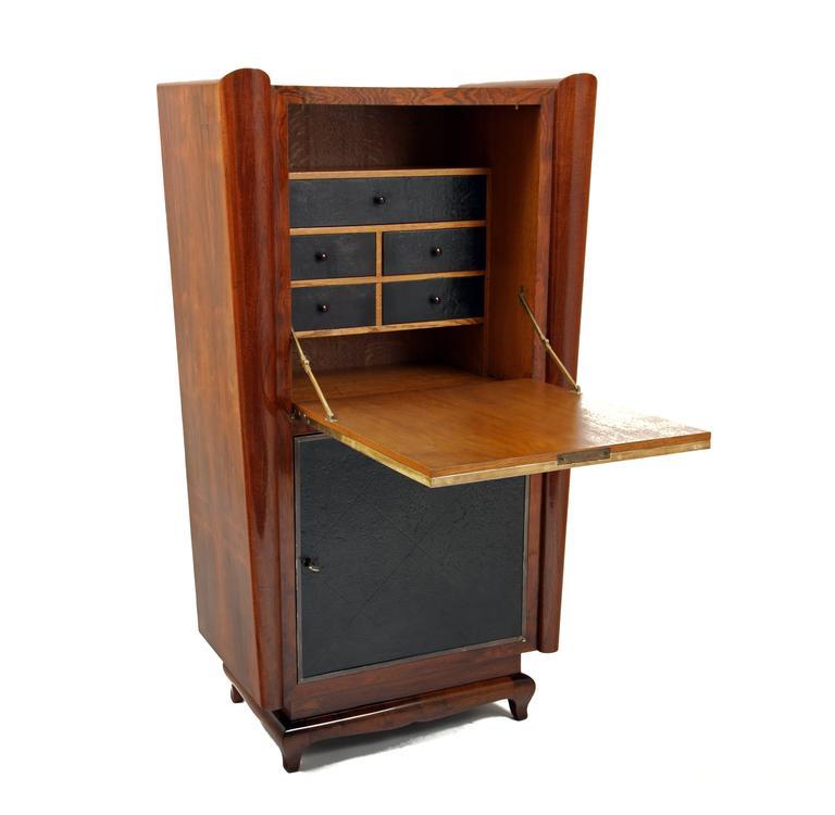 art deco secretaire france 1940s for sale at 1stdibs. Black Bedroom Furniture Sets. Home Design Ideas
