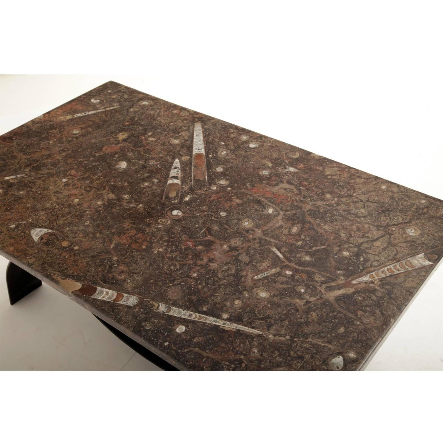 Modernism fossil top coffee table 1950s for sale at 1stdibs for Fossil coffee table