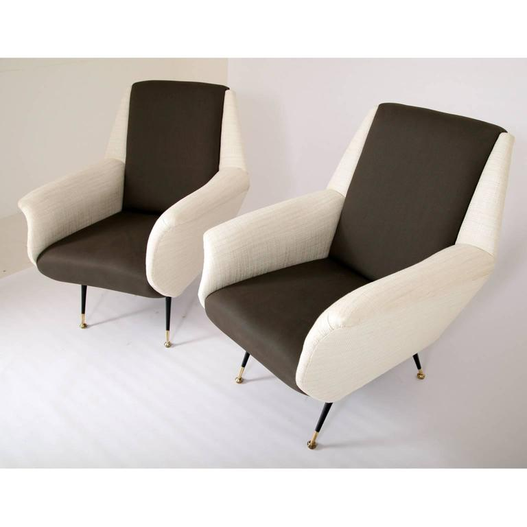 Lounge Chairs, Italy, 1950s In Excellent Condition For Sale In Greding, DE