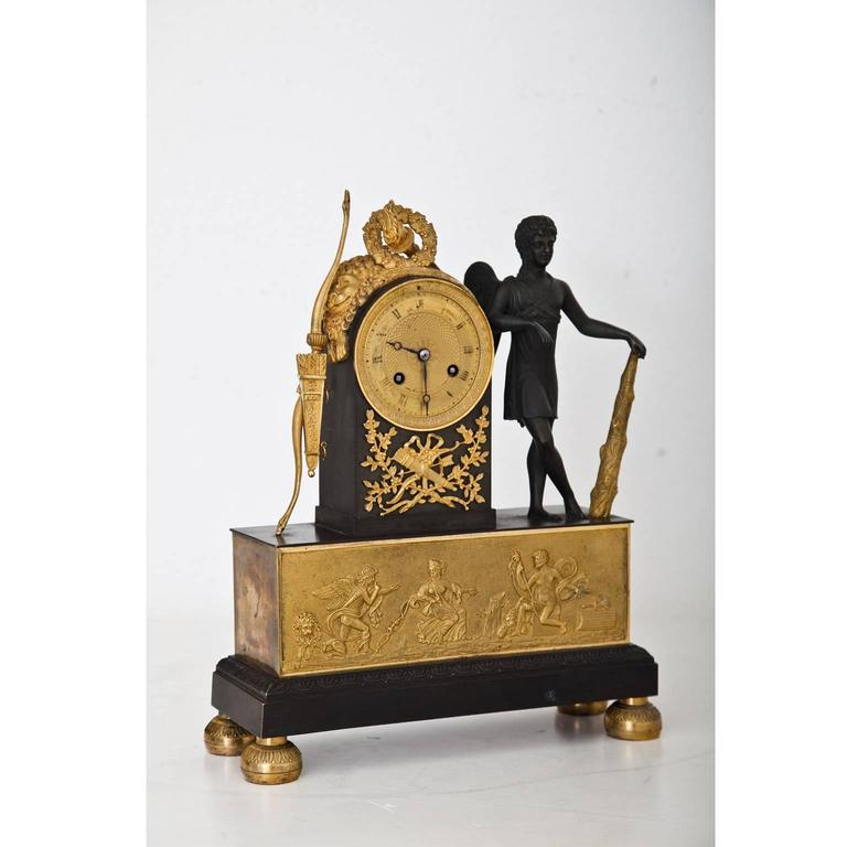 Pendule Clock with Cupid, First Half of the 19th Century 2