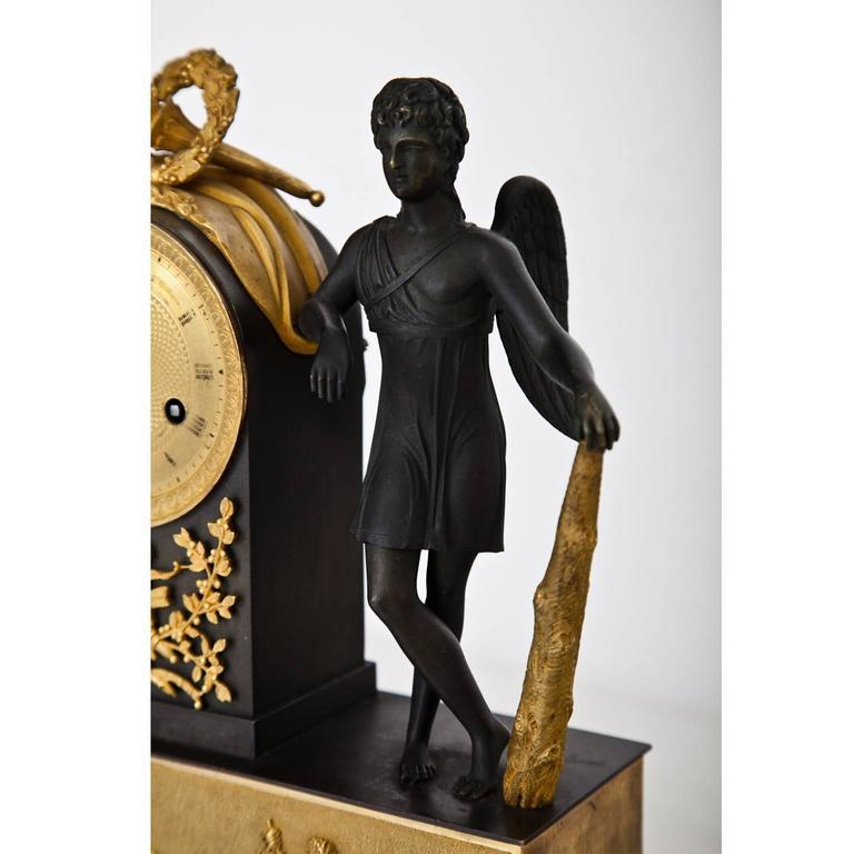 Pendule Clock with Cupid, First Half of the 19th Century 3