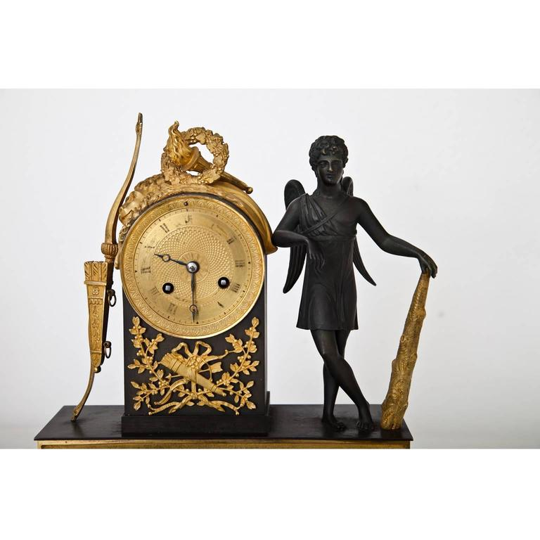 Pendule Clock with Cupid, First Half of the 19th Century 4