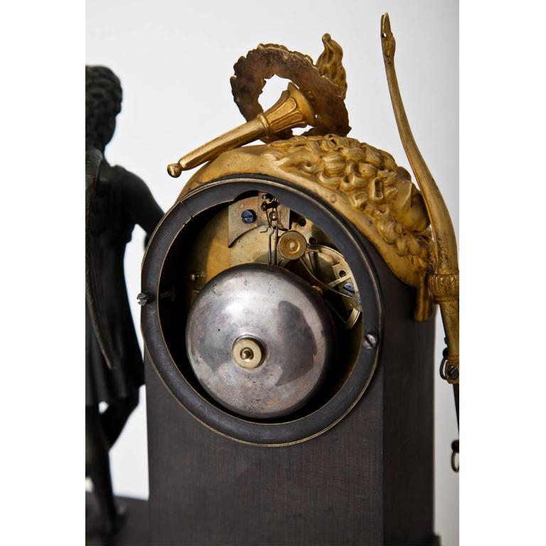 Pendule Clock with Cupid, First Half of the 19th Century 5