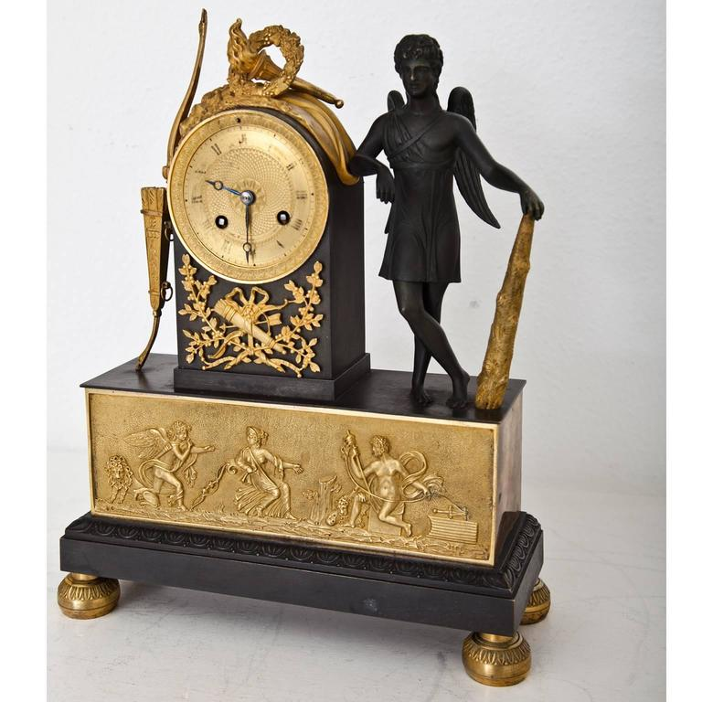 Pendule Clock with Cupid, First Half of the 19th Century 8