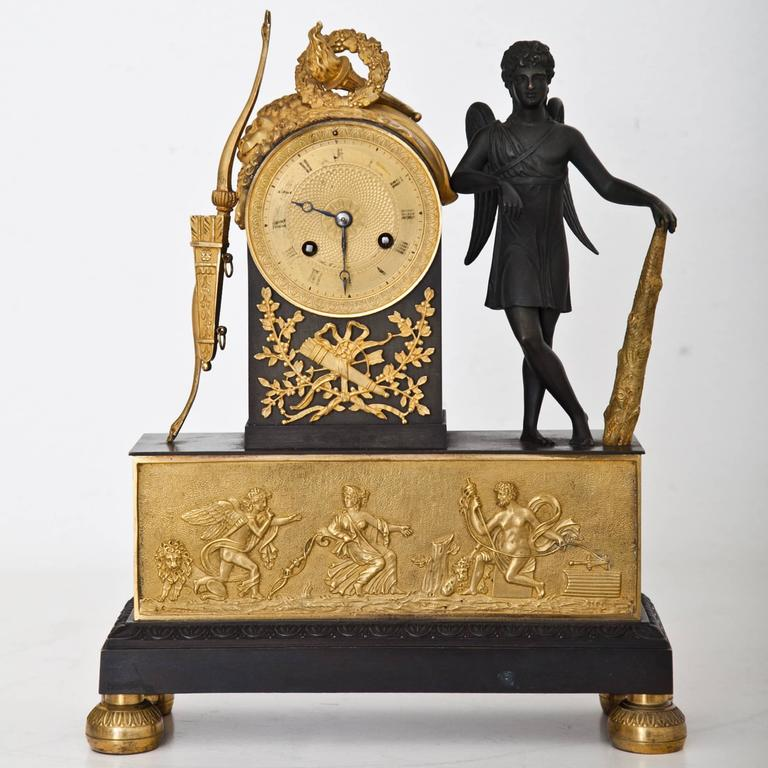Pendule Clock with Cupid, First Half of the 19th Century 9