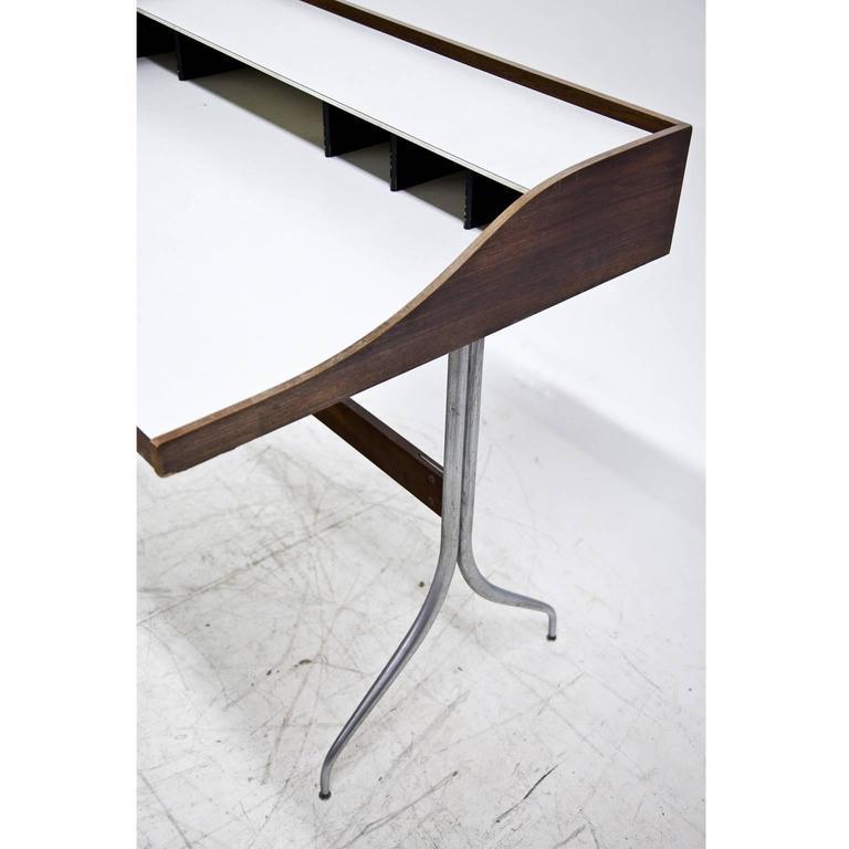 Mid-Century Modern George Nelson 'Swag-Leg' Desk, 1950s For Sale