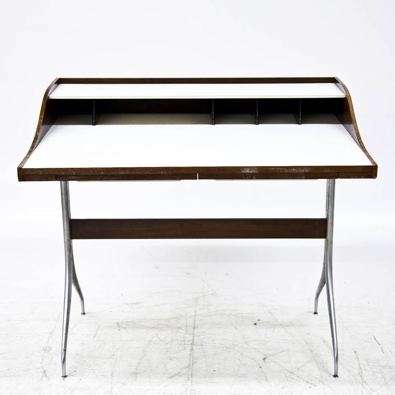 American George Nelson 'Swag-Leg' Desk, 1950s For Sale
