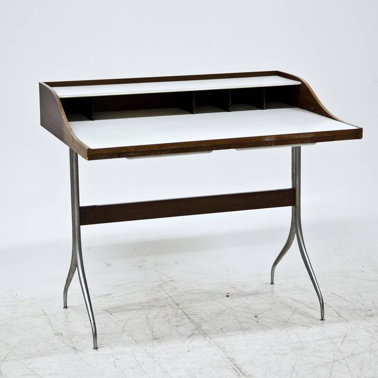 Mid-20th Century George Nelson 'Swag-Leg' Desk, 1950s For Sale