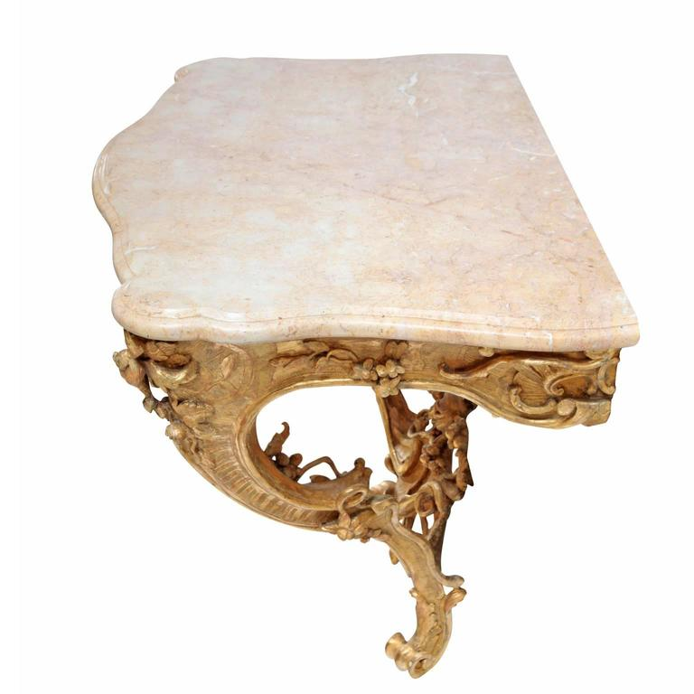 18th Century and Earlier Rococo Console Table, 18th Century For Sale