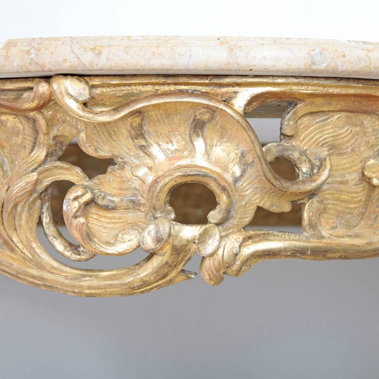Rococo Console Table, 18th Century For Sale 2