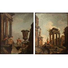 Pair of Oil-Paintings, Italy, Dated 1756