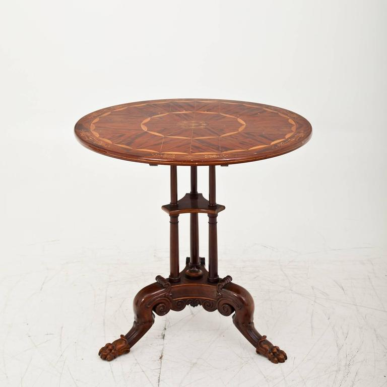 Inlay Side Table Berlin, First Half of the 19th Century For Sale