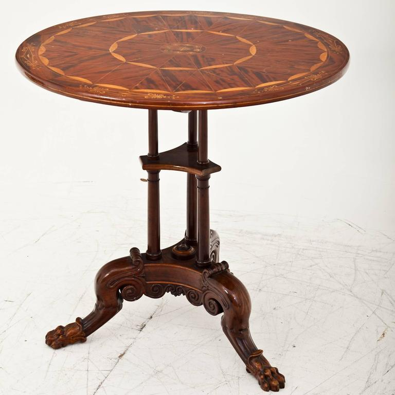 Wood Side Table Berlin, First Half of the 19th Century For Sale