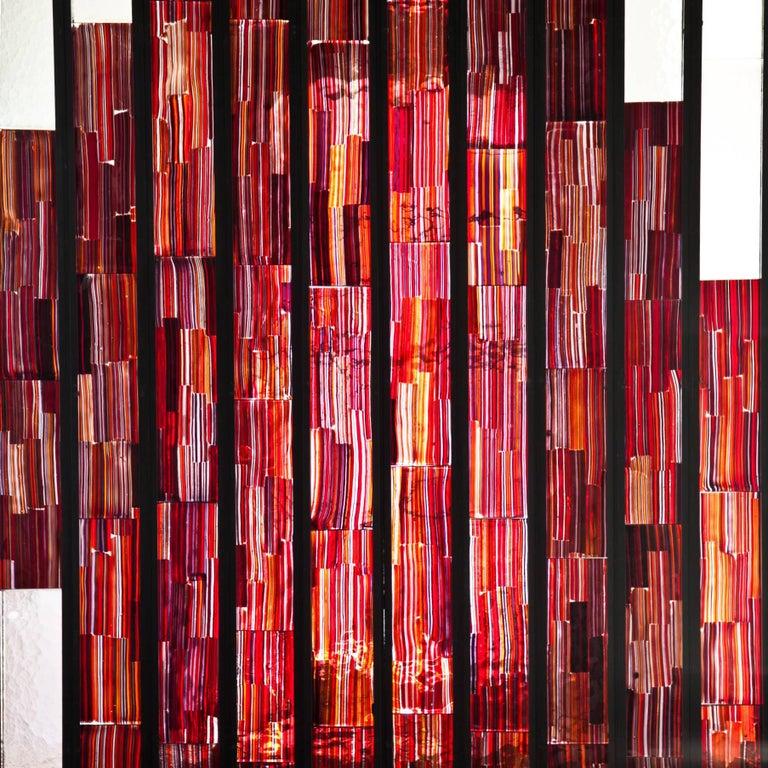 Art Glass Paravent by Paolo Venini for Venini Vetrate Tessuto, 1957 For Sale