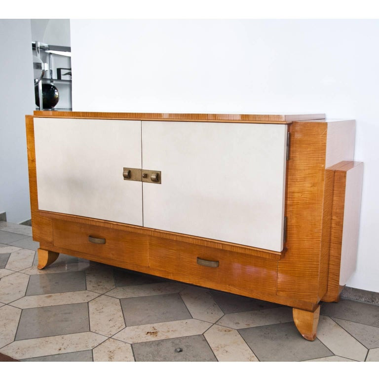 Art Deco Sideboard, France, 1940s In Good Condition For Sale In Greding, DE