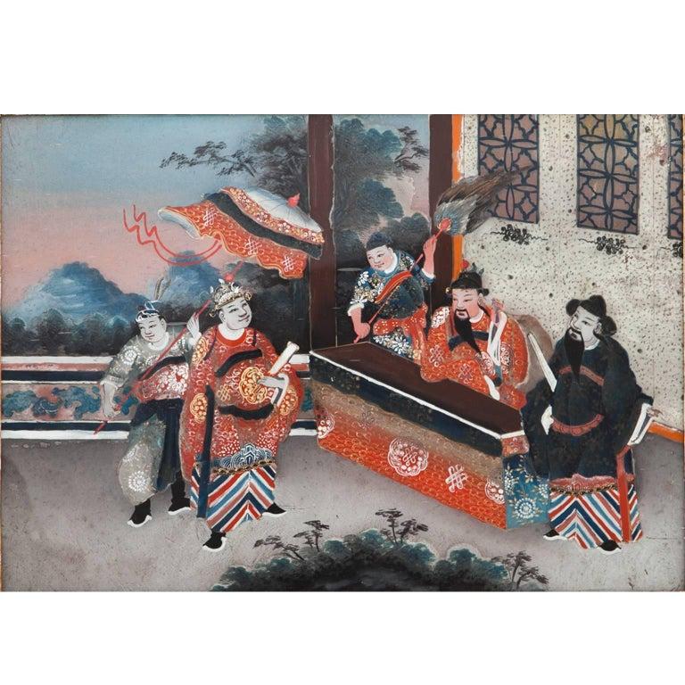 Chinese Reverse Glass Painting, 18th Century