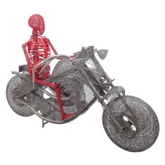 "Lifesize ""Ghost Rider"" by Anacleto Spazzapan, Italy, 2010"