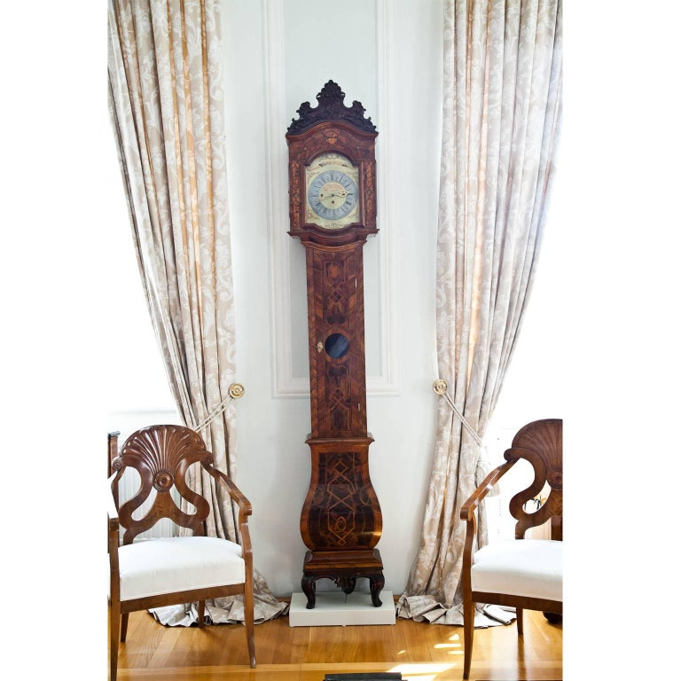 Louis XVI Grandfather Clock, Southern Germany 18th Century For Sale