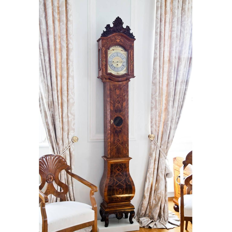18th Century and Earlier Grandfather Clock, Southern Germany 18th Century For Sale