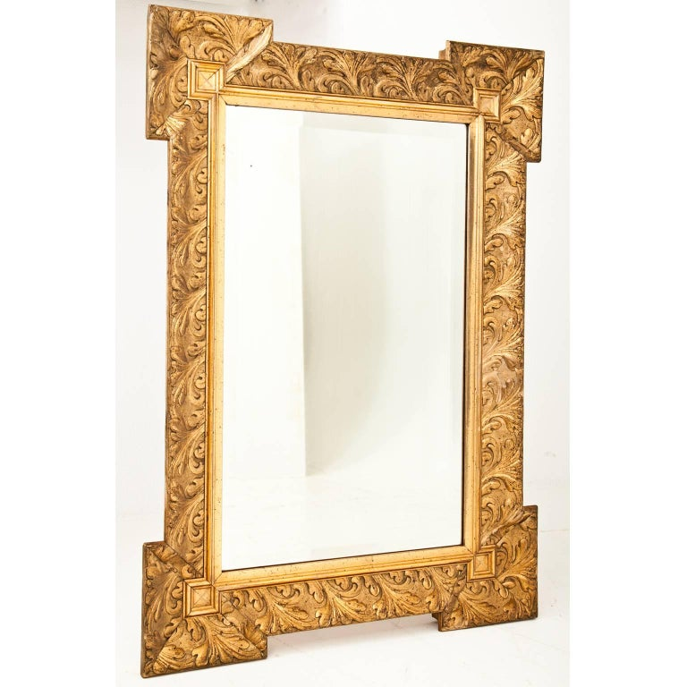 Gilt mantle mirror at 1stdibs for Mantle mirror