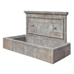 Large Provincial Style Wall Fountain