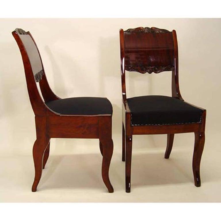 European Biedermeier Dining Chairs, 19th Century For Sale