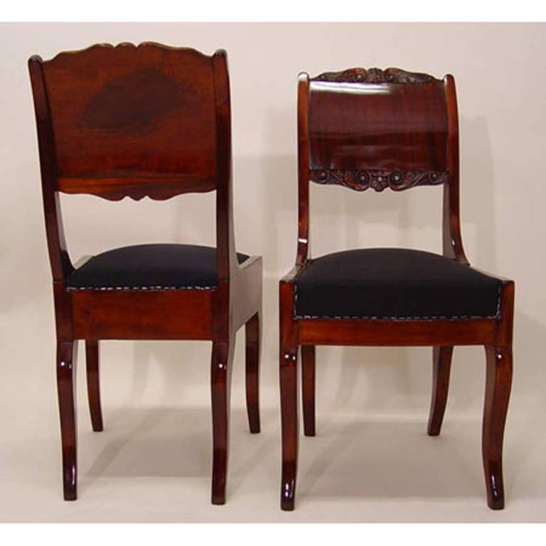 Biedermeier Dining Chairs, 19th Century In Excellent Condition For Sale In Greding, DE
