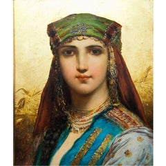Oil Painting by Hans Zatzka, 'Fellah Girl', Austria, 19th Century